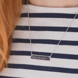 Personalised Sound Wave Necklace - necklaces & pendants