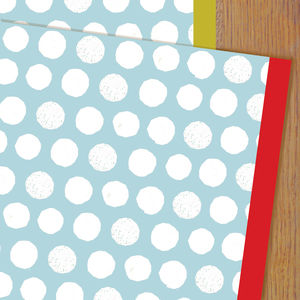 Blue Spot Wrapping Paper Two Sheets