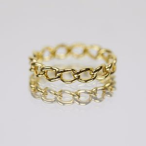 14k Gold Vermeil Delicate Chain Ring - rings