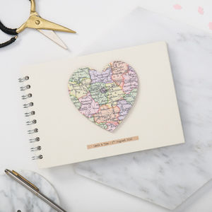 Personalised Vintage Map Heart Album