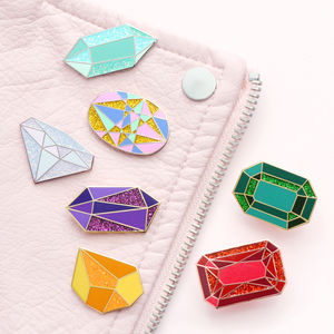 Birthstone Enamel Pin