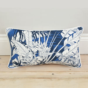 Tropical Palm Leaf Bolster Cushion - bedroom