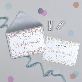 Glitter And Sparkle Will You Be My Bridesmaid Card