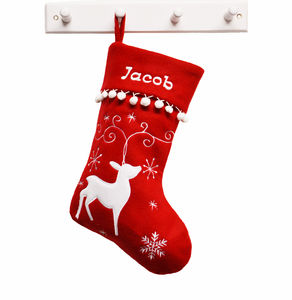 Personalised Reindeer Christmas Stocking - christmas sale