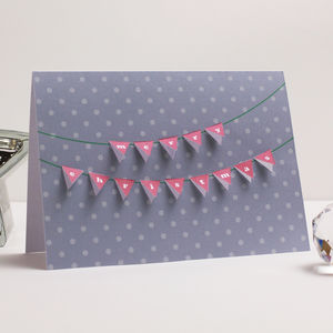 Christmas Bunting Paper Cut Card - cards