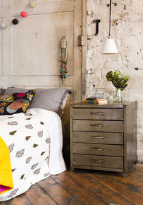 Jodin Beside Industrial Style Bedside Drawers