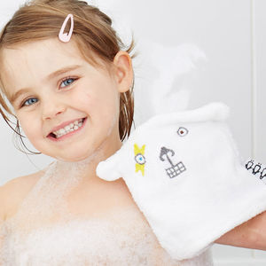 Baby Bath Mitt In Happy, Sad And Fighty Face - health & beauty sale