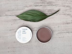 Natural And Organic Vegan Cacao And Mint Lip Balm