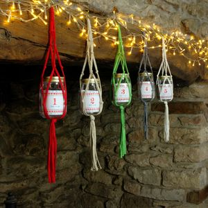 Macrame Advent Calendar Jar