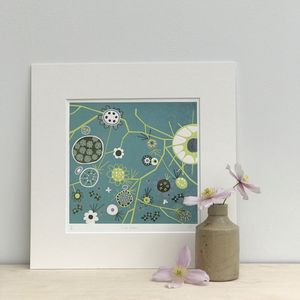Full Bloom Limited Edition Lino Print - nature & landscape