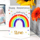 Personalised Rainbow Anniversary Card