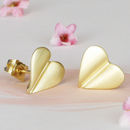 'Love Grows' 9ct Gold Heart Earrings