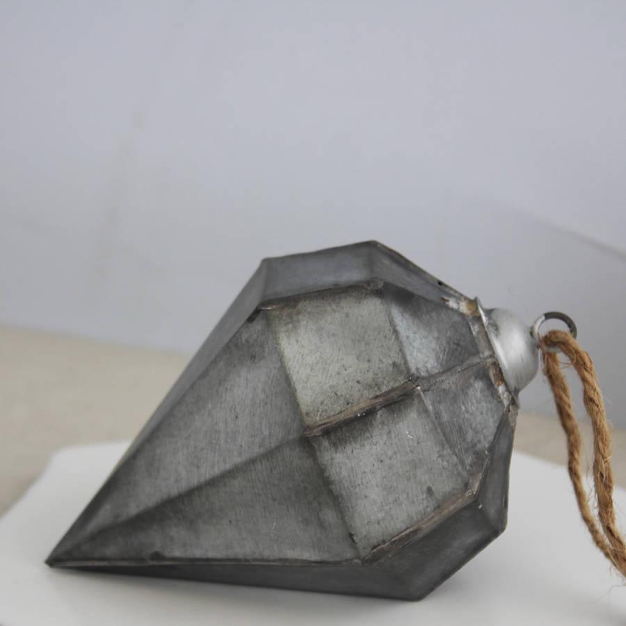 Large zinc diamond decoration by posh totty designs for Decoration zinc