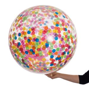 Giant Rainbow Bright Confetti Filled Balloon - adults birthday