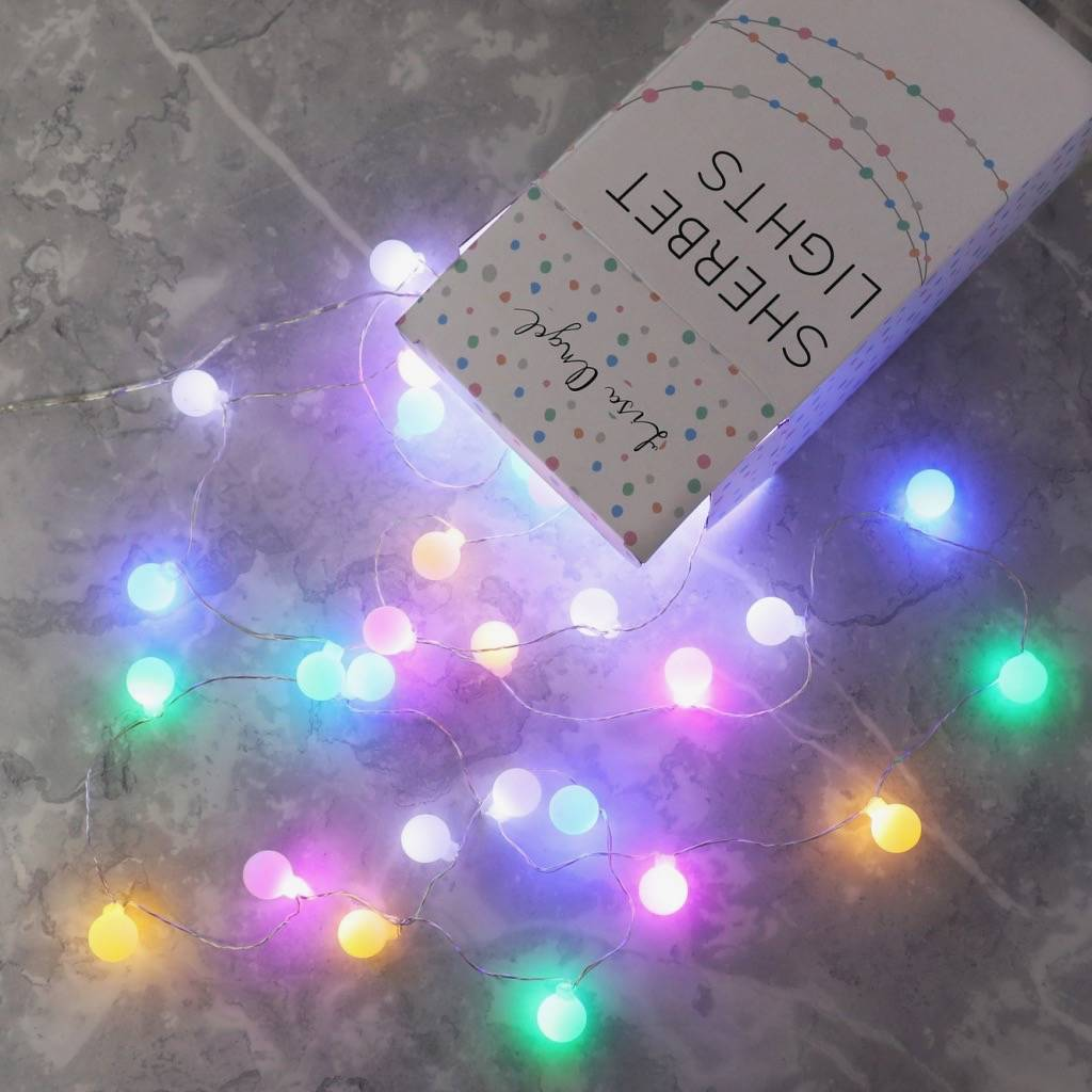 String Lights Mains Operated : mains powered led sherbet string lights by lisa angel notonthehighstreet.com