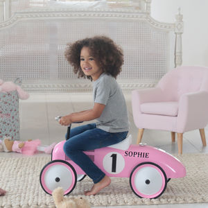 Pink And White Ride On Car - bikes & ride on toys