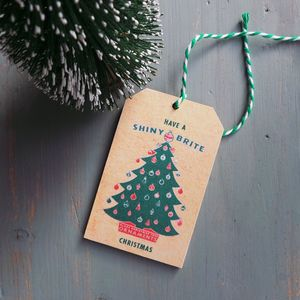 Hand Cut Wooden Vintage Inspired Christmas Gift Tags
