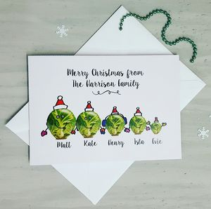 Sprout Family Christmas Card - cards & wrap