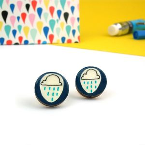Rain Cloud Weather Earrings