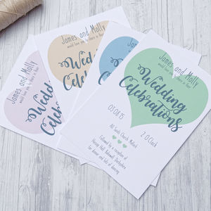 Love Heart Wedding Stationery Range