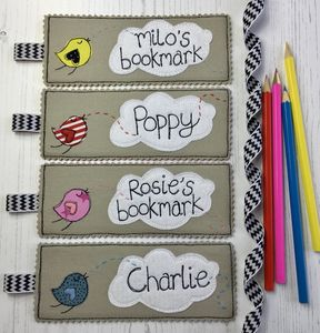Personalised Little Cloud Bookmark