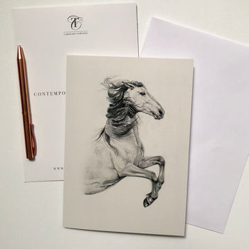 Horse Drawing | Horse Greeting Card | Horse Gifts |