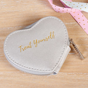 Treat Yourself Silver Heart Purse - bags & purses