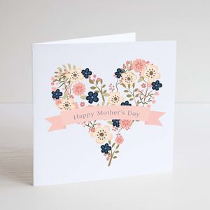 Floral Heart Mothers Day Card