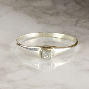 Rough Diamond Cube Ring