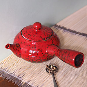 Jun Side Handle Ceramic Teapot - teapots