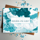 Will You Be My Bridesmaid Marble Card