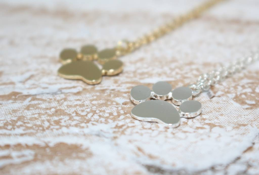 necklace paw necklaces style hand on jewellery heart large print ls tiffany