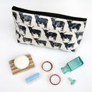 Highland Cow Oil Cloth Wash Bags