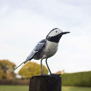 Wagtail Handmade Recycled Metal Garden Ornament - art & decorations
