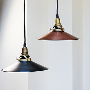 Distressed Pressed Pendant - pendant lights