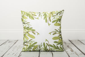 Foliage Cushion - bedroom