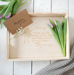 Personalised Handwritten Message Breakfast Tray - dining room