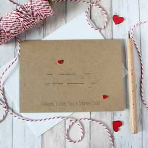 'Means I Love You' Morse Code Anniversary Card - funny cards