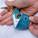 Personalised Your Childs Drawing Leather Keyring