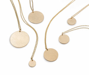 Signature 9ct Gold Textured Pendants