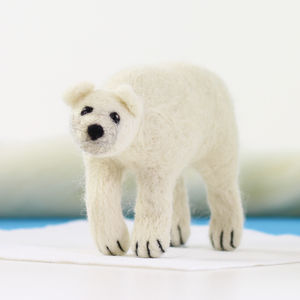 Polar Bear Needle Felting Craft Kit - sewing & knitting