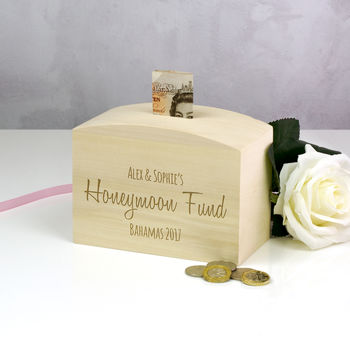 Personalised Honeymoon Destination Fund Money Box