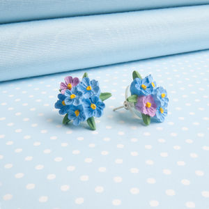 Forget Me Not Posy Earrings - earrings