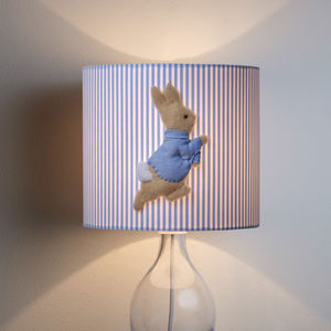 Peter Rabbit™ 3D Appliqué Blue Nursery Lampshade - lampshades
