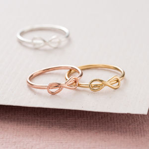 Mini Infinity Bow Ring