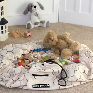Honeycomb Printed Toy Storage Bag And Play Mat