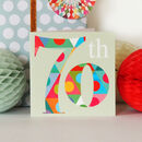 Seventy Birthday Card