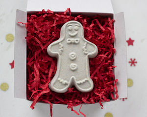 Gingerbread Man Bath Fizzy In Gift Box - bath & body