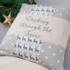 Dasher Reindeer Cushion - christmas home accessories