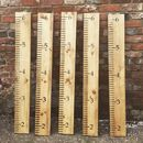 Reclaimed Solid Pine Wooden Height Measuring Chart